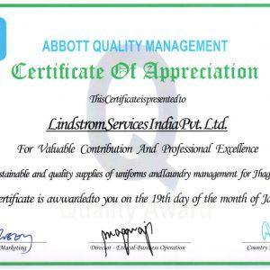 Abbott Nutrition Certificate